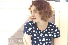 anukoo MAXI dress, 100% G.O.T.S. certified cotton Spring Summer 2015, Polka Dot Top, Cotton, Collection, Tops, Dresses, Women, Fashion, Vestidos