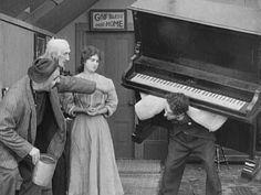 Charles Chaplin, curta metragem, piano,  comédia