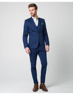 Cobalt Blue Slim Fit Suit $369.85 (Vest $89.95, Pants $89.95, Jacket $189.95)