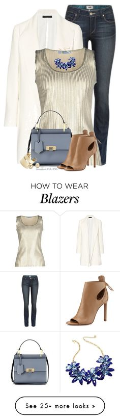 """""""Looking on the bright side"""" by houston555-396 on Polyvore featuring Paige Denim, The Row, Blumarine, Kate Spade, Balenciaga, By Malene Birger, Blue Nile and Vince"""