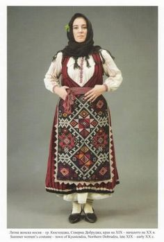Popular Folk Embroidery Summer dress from Kostendja, Northern Dobrudja, now Romania Folk Embroidery, Embroidery Designs, Folk Costume, Costumes, Bulgarian, Embroidery Techniques, Historical Clothing, Traditional Dresses, Fashion Art