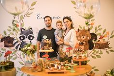 Discover recipes, home ideas, style inspiration and other ideas to try. Animal Birthday, Baby Birthday, Birthday Party Themes, Baby Boy Themes, Forest Party, Woodland Baby, Baby Shower Parties, First Birthdays, Boy Decor