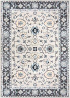 Oxford Grey/White Area Rug