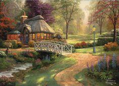 Friendship Cottage by Thomas Kinkade #art