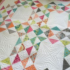 Quilting by Natalia Bonner of Piece 'n Quilt - @nataliabonner.  Fabric is For You by Brigitte Heitland - Zen Chic for Moda. Quilt pattern is Otis by what's-her-name. Coming soon. #ShowMeTheModa #modafabrics
