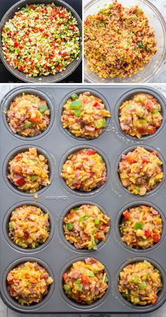 jo cooks leftover ham and cheese breakfast muffins - Yahoo Image Search Results Breakfast On The Go, Breakfast Items, Breakfast Muffins, Perfect Breakfast, Breakfast Dishes, Breakfast Recipes, Dinner Recipes, Breakfast Club, Baked Mushrooms