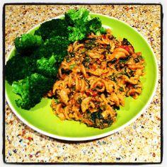 Spicy Chicken & Ricotta Pasta with Kale