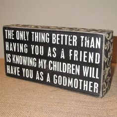 Godmother God Mother Gift Godmother Sign Painted Wooden Box Sign Gift for Godparents Baptism or Christening gifts on Etsy, $16.00
