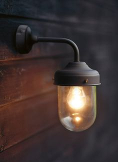 "Wandlamp ""Barn Light"" - Coffee Bean"