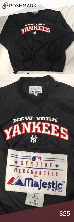 133ddee58dd Majestic New York Yankees Pullover V-Neck pullover. New York Yankees MLB  Pullover. With drawstring at the bottom. Majestic Jackets   Coats