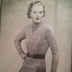 1940's Style For You: Free Knitting Pattern - Simple 1930's Jumper - Goo...