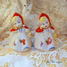 VINTAGE HULL Salt and Pepper Shakers by EllensAtticTreasures, $48.50