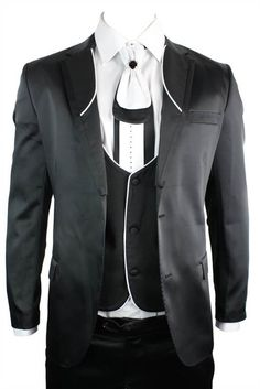 This Great Contrasting Trim Suit is suitable for parties, Weddings, Proms and other social events. #suits #clothing #fashion #menswear #mensstyle #shopping #online #style
