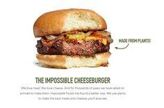 Startup quer criar 'cheeseburger' vegetariano a partir de plantas