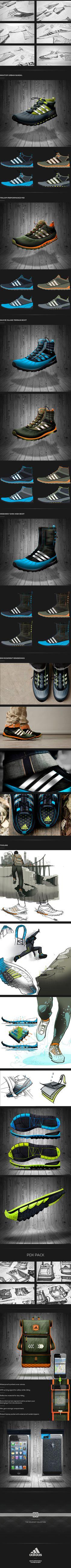 adidas x cabourn by Dan Ogren, Cedric Hudson and Guercy Eugene via Behance