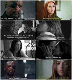 Clintasha's feels. That was the sound of my heart breaking into a million pieces. <HEADCANON> Okay, I thought I was over Clintasha, until I saw this...