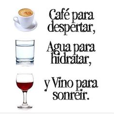 ¡No hay nada mejor que un buen #café en la mañana y un excelente #vino en la noche!  ¡Salud!