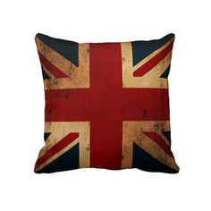 Union Jack (vintage distressed, double sided) Pillows