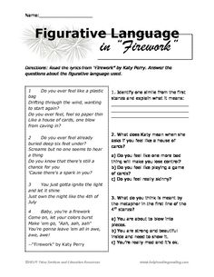 Worksheets Figurative Language Worksheets Middle School higher order thinking worksheets and context clues on pinterest 7th grade figurative language google search