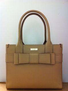 Kate Spade Villabella Avenue Bow Leather Quinn Purse Bag Fallow