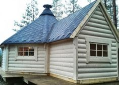 DARLING!  GGC DESIGNS GRILL CHALETS COME WITH EXTENSION ROOM.  Love It