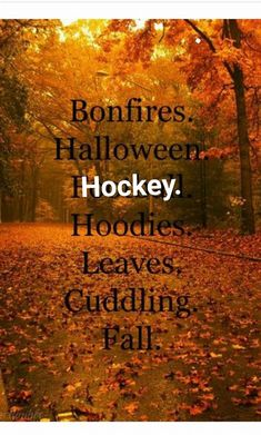 Just about all the reasons I love October