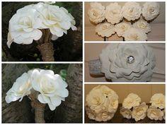 Paper Flower Wedding Package Medium  Bridal by EverBloomsFlowers, $349.00