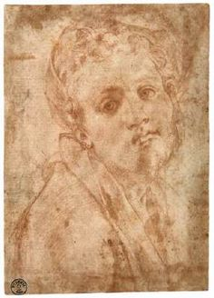 Self-Portrait - Jacopo Pontormo.  1526-28.  Red chalk drawing.  155 x 107 mm.  Galleria degli Uffizi, Florence, Italy.