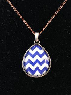 Blue Zig Zag Necklace