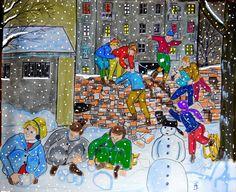 Winterspiele im Hinterhof