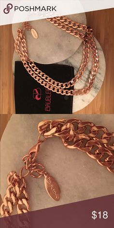 Bauble at rose gold chain necklace Baublebar necklace. rose gold chain necklace. Double layer. Lobster clasp hook Baublebar Jewelry Necklaces