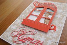 Weihnachten-Weihnachtskarten-Karten-christmas-cards-grün-rot-traditionell-xmas-Detail-Rentier-Hirsch-im-Fenster