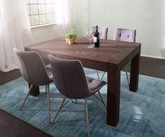 Esstisch Amadora 140x100 Altholz Tabak Beine Durchstossen Möbel Tische  Esstische