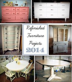 Refinished Furniture Projects in 2014 Refinished Furniture, Repurposed Furniture, Painted Hutch, Do It Yourself Projects, Furniture Projects, Table And Chairs, Own Home, China Cabinet, Design Projects