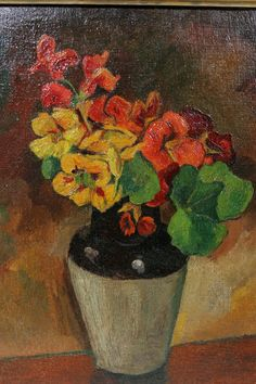 André Derain was een Frans kunstschilder en beeldhouwer. Fauvism Art, Maurice De Vlaminck, André Derain, Post Impressionism, Henri Matisse, French Artists, Red Flowers, Flower Art, Still Life