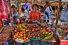 Colorful market in Bali