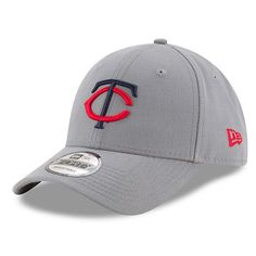 Adult New Era Minnesota Twins 9FORTY The League Storm Adjustable Cap, Grey