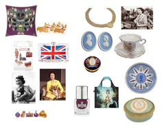 """""""Queen's Birthday Holiday"""" by saffron-rose on Polyvore featuring Bombki, Corgi, Silken Favours, Monsoon, Wedgwood, Halcyon Days and LOQI"""