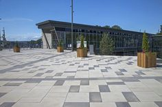 Unilock - James Street Go Station with 24 x 24 Paver in Ontario