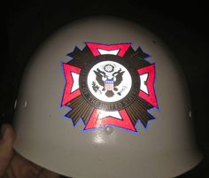 VTG WWII Helmet Liner VFW Veterans of Foreign Wars Parade Fraternal Military Org - http://collectibles.goshoppins.com/historical-memorabilia/vtg-wwii-helmet-liner-vfw-veterans-of-foreign-wars-parade-fraternal-military-org/