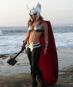 By Odin& Beard, Lady Thor is listed (or ranked) 5 on the list Insanely Sexy Marvel Cosplay That Will Leave You Thirsty Thor Cosplay, Cosplay Anime, Best Cosplay, Cosplay Girls, Cosplay Costumes, Halloween Costumes, Thor Costume, Female Cosplay, Thor Halloween