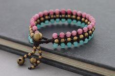 Summer Love Beaded Bracelet por XtraVirgin en Etsy, $9.00