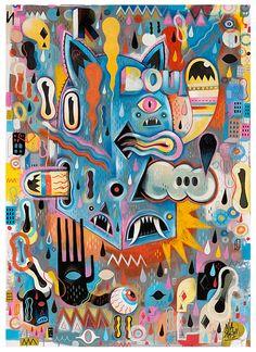 Pantings by Seb Feraut