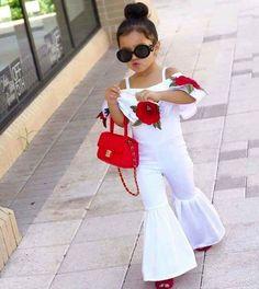 New Fashion Sleeveless Wide Leg Romper Cute Kids Fashion, Baby Girl Fashion, Outfits Niños, Kids Outfits, Little Girl Dresses, Girls Dresses, Indian Fashion Trends, Kids Frocks, Stylish Kids