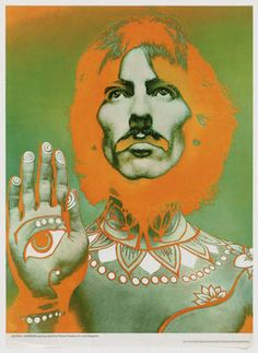 Poster of George Harrison, by Richard Avedon.