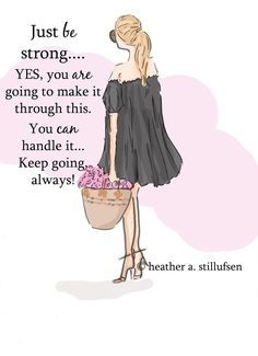 Wall Art for Women Just Be Strong Wall by RoseHillDesignStudio