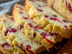 While pumpkin bread is a classic dessert/breakfast/snack staple during autumn months, there isn't really an equivalent treat for winter…until now. This loaf is perfectly moist, sweet and tart, and is the perfect thing to make Cranberry Cheese, Cranberry Muffins, Cranberry Bread, Cranberry Recipes, Loaf Recipes, Cake Recipes, Yummy Recipes, Recipies, Vegetarian Recipes