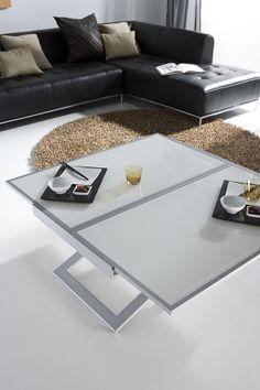 Table basse relevable et transformable loft meubles - Menzzo table basse relevable extensible ...