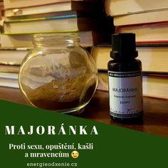 Éterický olej majoránka. | Soap, Bottle, Flask, Bar Soap, Soaps, Jars