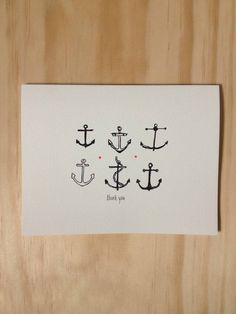 Anchor Thank You Note by HartlandBrooklyn on Etsy